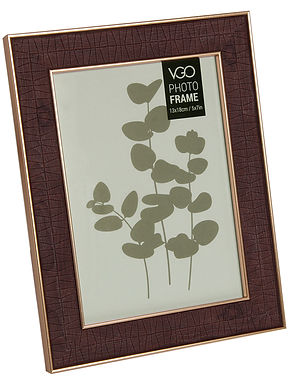 Portarretrato plástico 15 x 21 cm 2 tonos madera