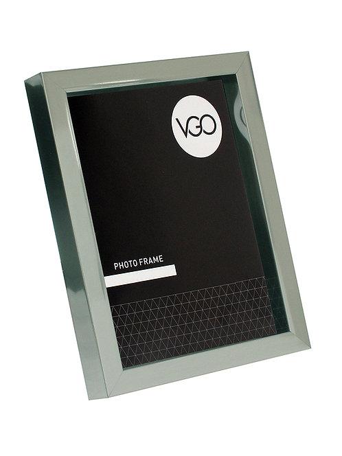 Portarretratos plástico metalizado tipo box 20x30 cm