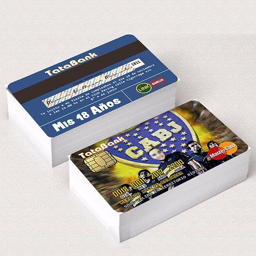 INVITACIONES Tarjeta de Credito Pack x 25