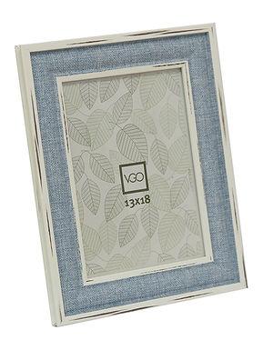 Portarretratos imitacion madera y  tela 15X21