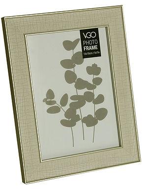 Portarretrato plástico 13X18 cm 2 tonos madera