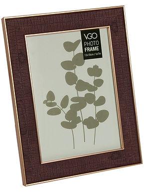 Portarretrato plástico 10x15 cm 2 tonos madera