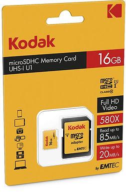 MEMORIA MICRO SD 16GB KODAK CLASE 1|0