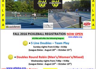 Fall Pickleball Registration is OPEN!