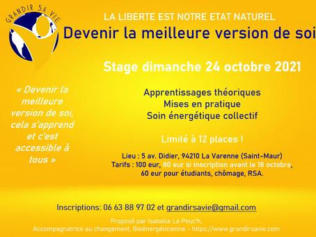 """Nouveau Stage """"Devenir la Meilleure Version de Soi"""""""