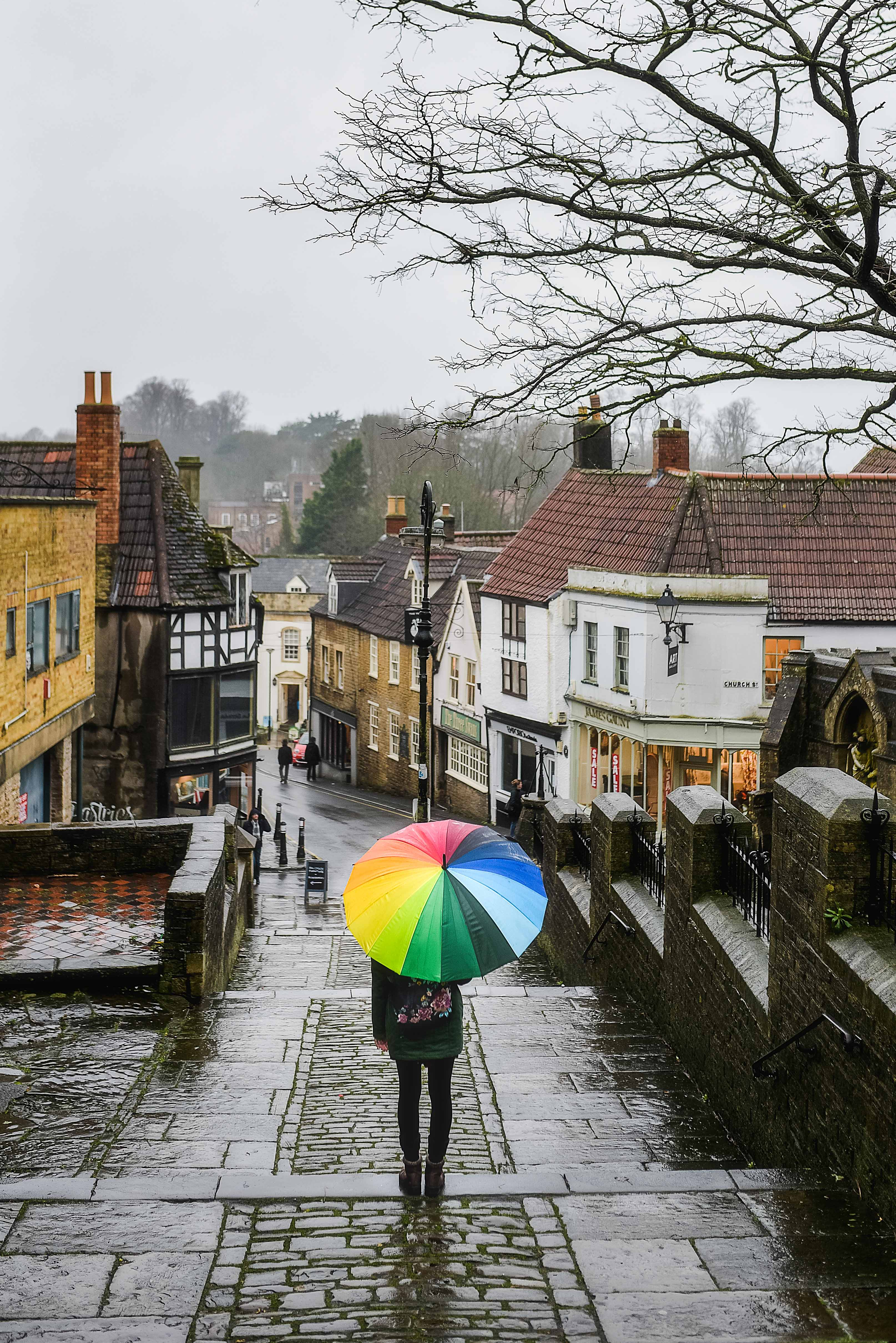 Frome in rain