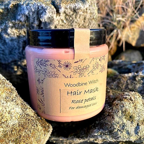 Hair mask - rose petals & argan oil /Maska do włosów