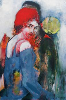 """Rotkäppchen"", Acryl auf Leinwand, 62 x 94 cm"