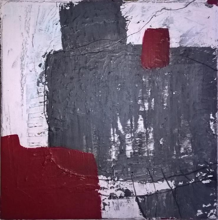 Schichtungen, Acryl auf Leinwand, 40 x 40 cm
