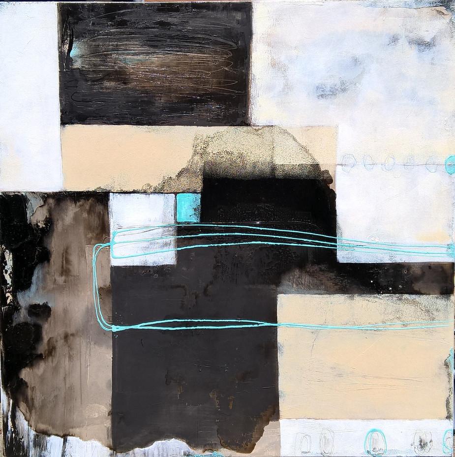 Acryl, Öl auf Leinwand, 100 x 100 cm