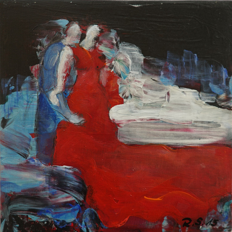 """""""Paar"""" Acryl auf Leinwand, 20 x 20 cm"""