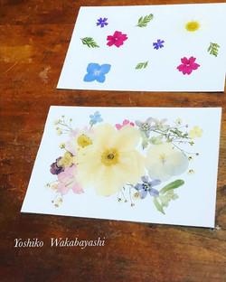 写真は、押し花セラピーの中で作る 「なりたい自分になれるための、背中を押してくれ