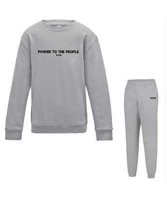 Light Grey polo tracksuit