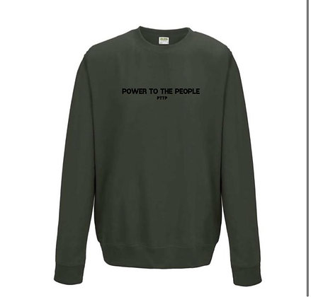 Power To The People Jumper -Khaki