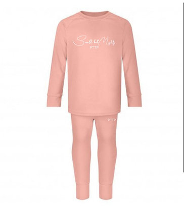Small but Mighty lounge set -salmon pink