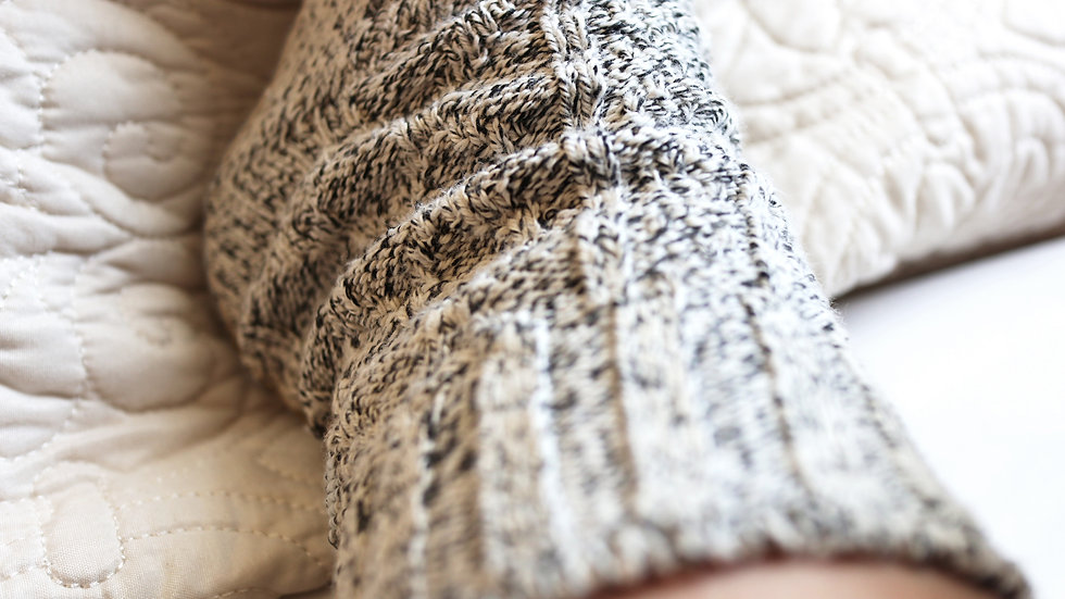 Marled Luxury Recycled Cotton Socks