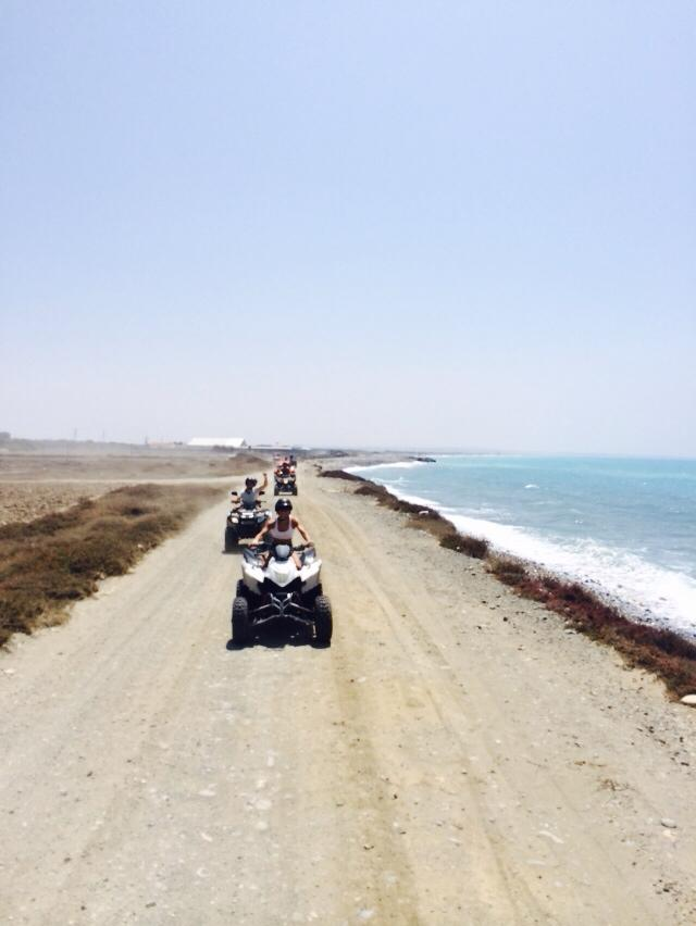 the limassol coastline Quad safari tour atlas rentals