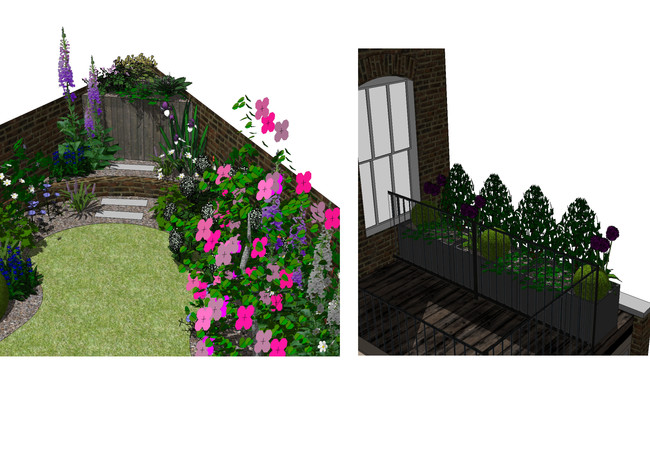 Planting over shed and terrace