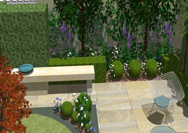 Detail of new planting area.