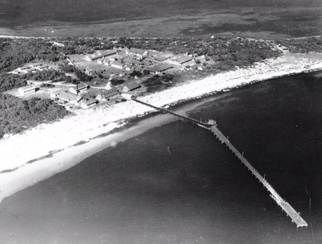 Woodman Point aerial view 2 - Jetty c1940s
