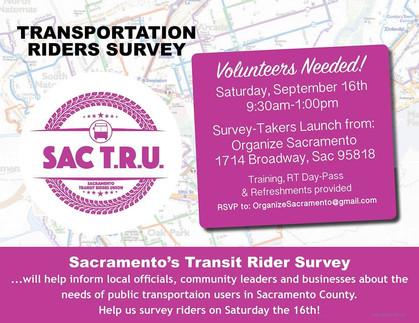 Rider Survey Volunteer Opportunity