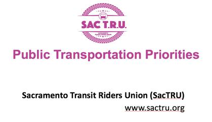 SacTRU Presents to STA on Funding Priorities