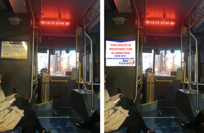 Tell Bus Riders Their Route is Changing!