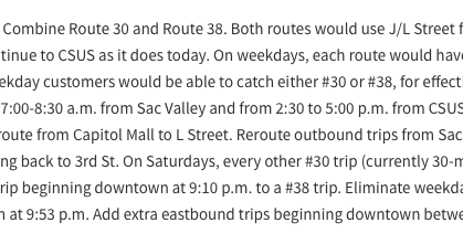 Let's Make it Mandatory to Follow up on Bus Route Changes