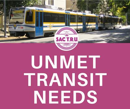 SACOG Unmet Transit Needs