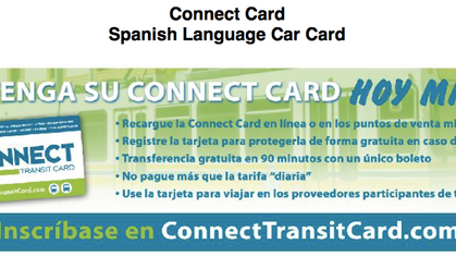 Connect Card in Other Languages!!