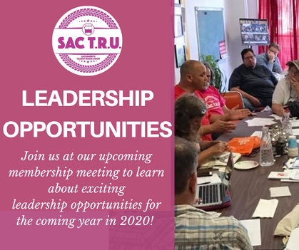 Join SacTRU Leadership in 2020!