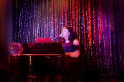Rachael Rage on piano
