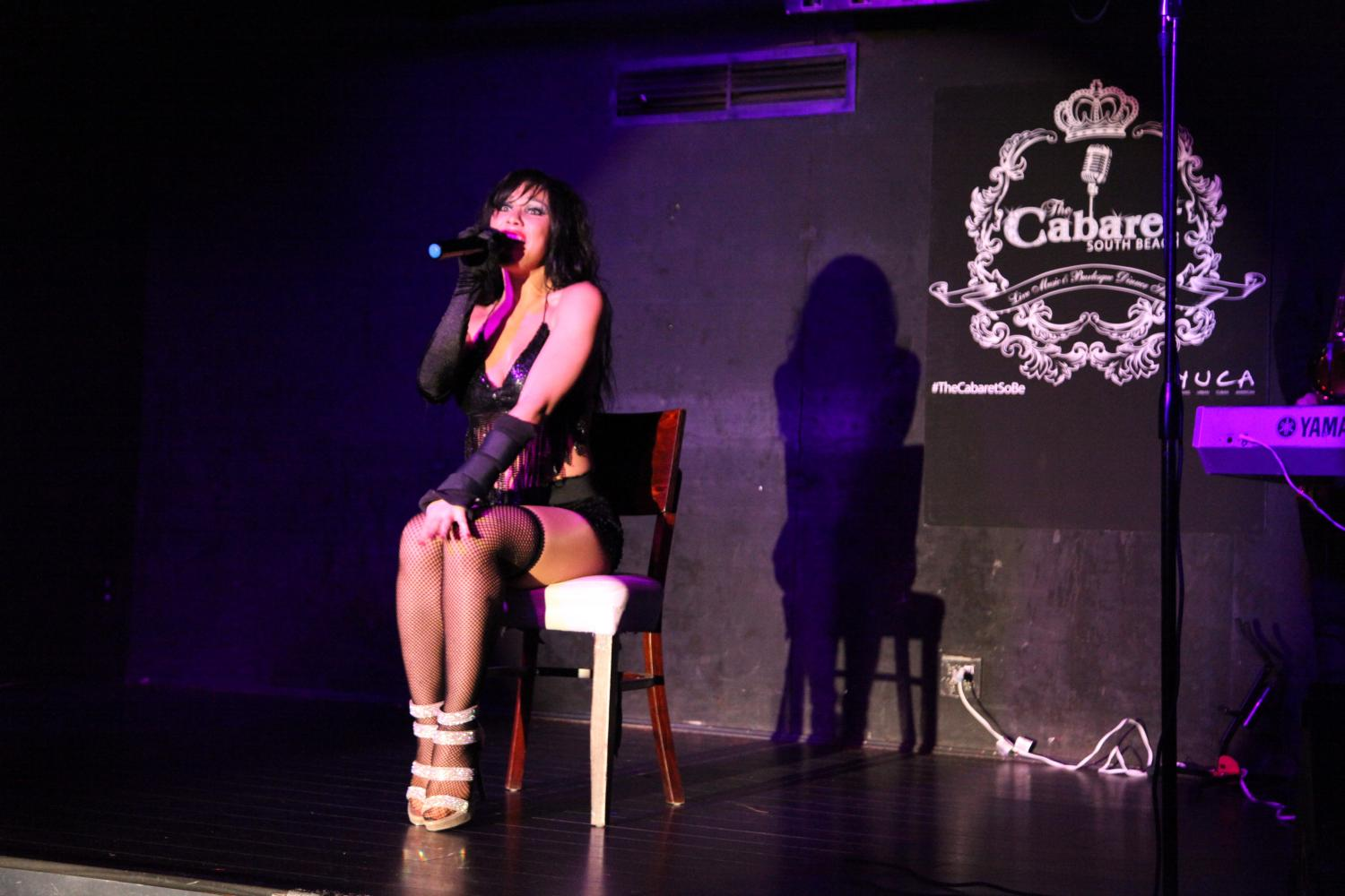 Singing at The Cabaret Supperclub