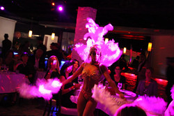 Showgirls, live music, singers