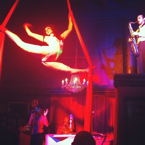 Miami Beach Piano Bar Aerialist