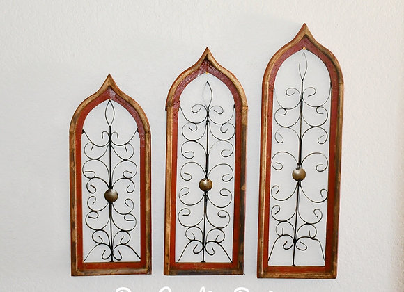 Messina Arched Window 3pc Set