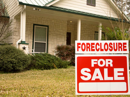 What happens after a foreclosure notice?