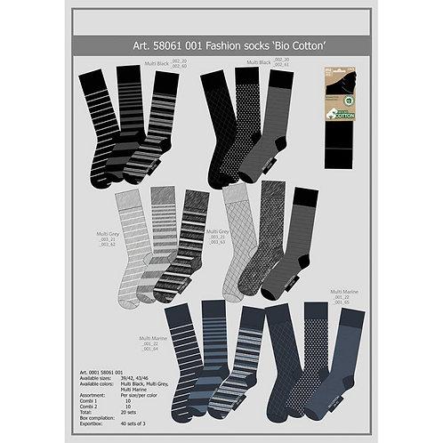 Bio Katoenen Fashion Sokken 3-Pack 000158061001