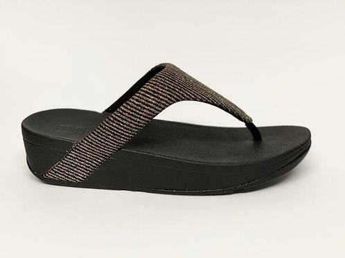 Fitflop Lottie Glitter Stripe Toe-Tongs black