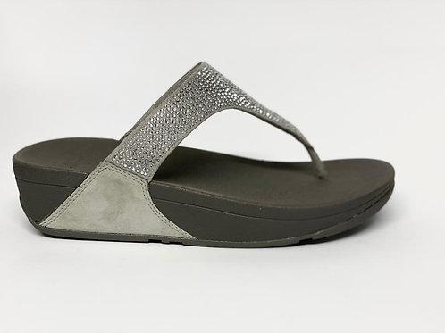 Fitflop Slinky Rokkit Toe-Post silver
