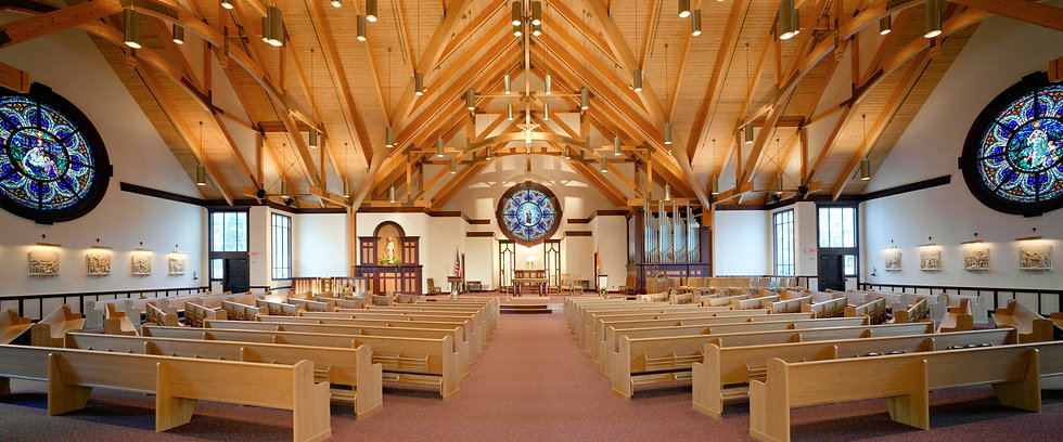 inside of St.Mary wihthe new worship Space