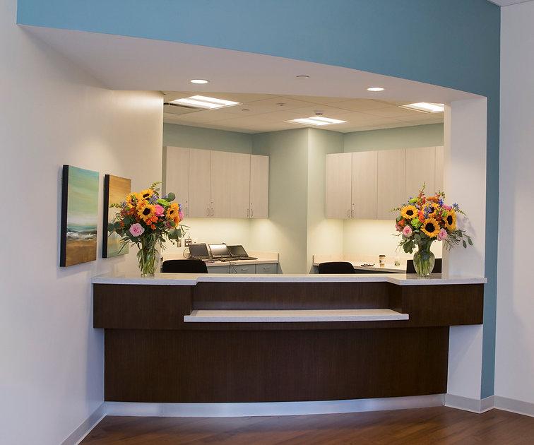 enlargement of greeting desk