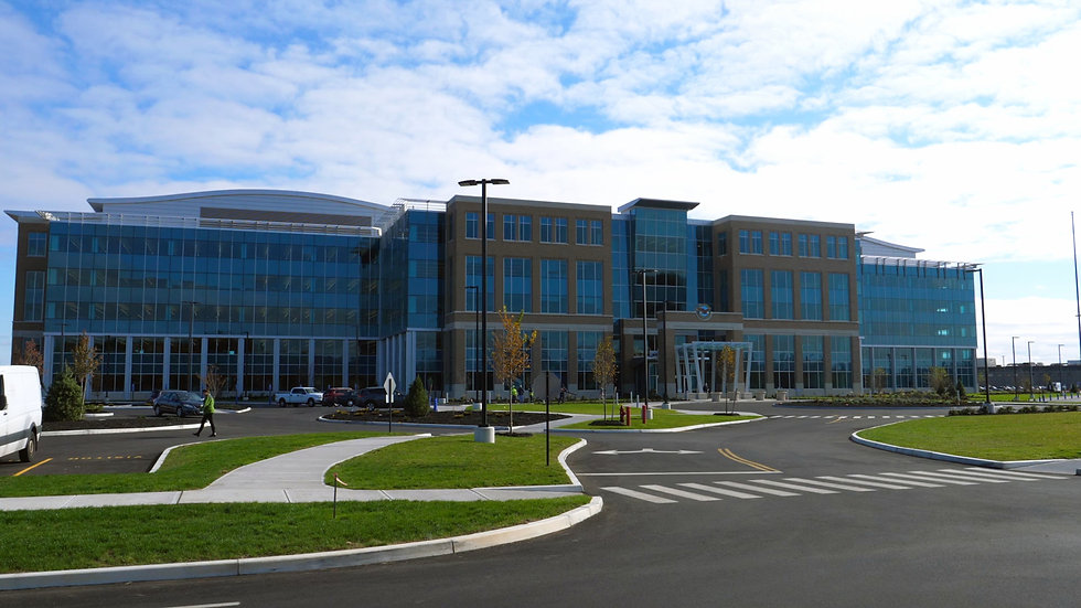 Large front exterior elevation of Pratt and Whitney East Hartford Connecticut