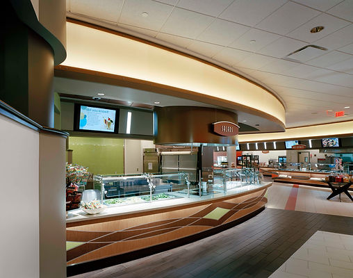 ESPN dining servery and commercial kitchen