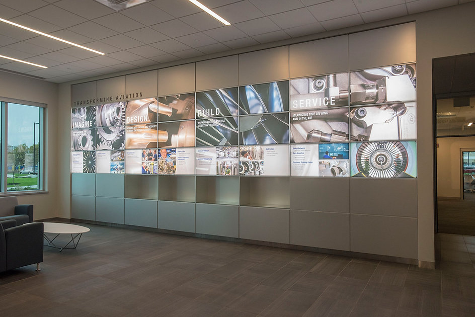 Pratt and Whitney interior lobby picture at East Hartford, Connecticut