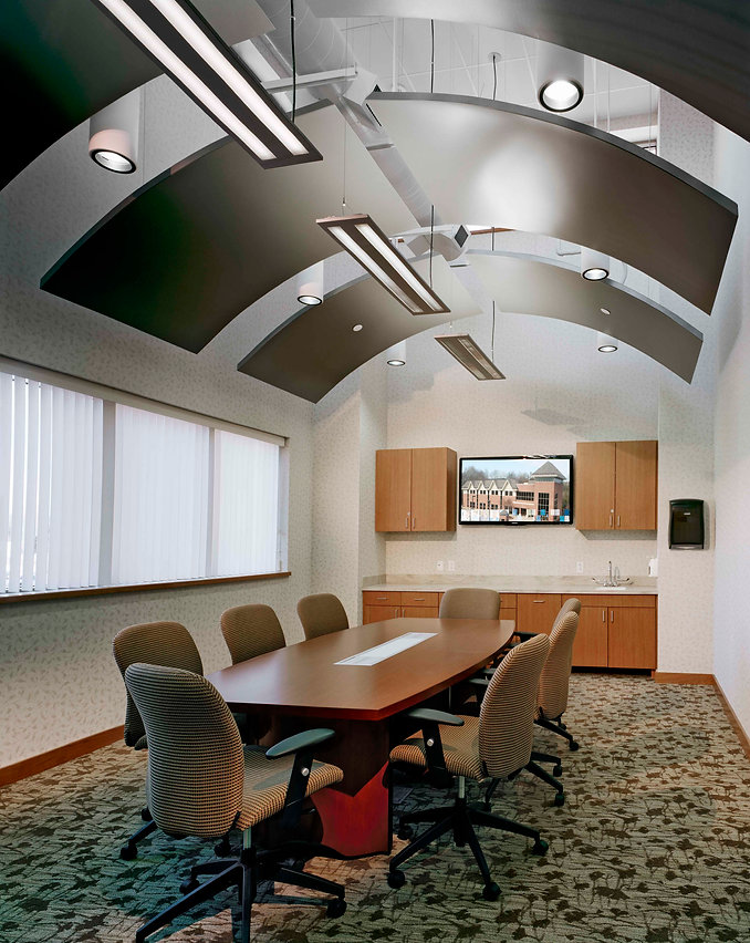 conference room with table and chairs