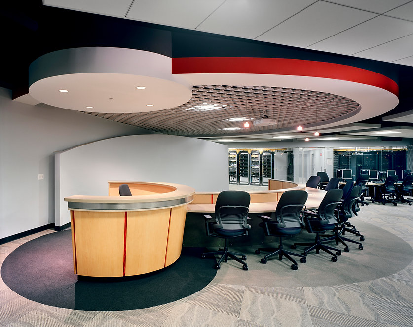 Aetna Consolidated IT Laboratories red and white and black ceiling