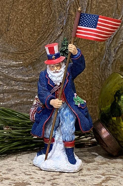 Patriotic Santa Miniature