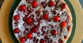 Cherry Almond Upside Down Cake