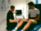 echografie bij renners met klachten